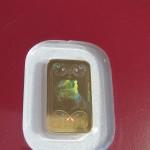 1g zlatý odliatok - rub, kinebar (detail)