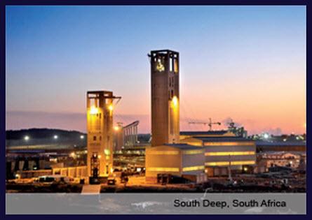 Zlatá baňa South Deep, Johanessburg, Južná Afrika